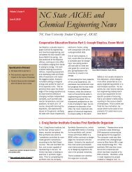 NC State AIChE and Chemical Engineering News