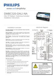 DMBC320-DALI-NA - Philips Lighting Controls