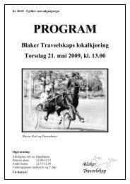 Last ned programmet her... - Det Norske Travselskap