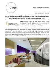 with Best Office design in Perspective Awards 2011 - dwp