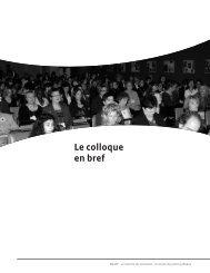 Le colloque en bref - Réseau québécois d'action pour la santé des ...