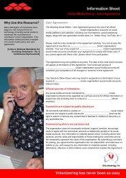 Social Media Policy - User Agreement - Volunteering Qld