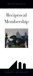 Reciprocal Membership - Memorial Art Gallery