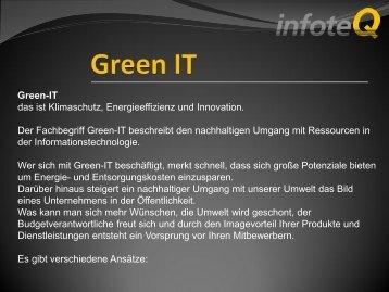 Green IT - Wirtschaftsforum Oberland