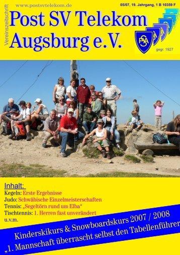 Vereinszeitung August 2007 - Jeden Freitag Preisschafkopf...
