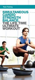 SIMULTANEOUS CARDIO STRENGTH ... - Life Time Fitness