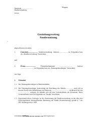 Gestattungsvertrag Sondernutzung