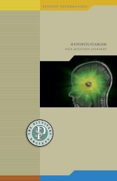 Hypopituitarism (PDF) (1.7mb) - Pituitary Society