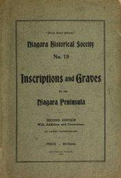 Inscriptions and graves - Bibliothèque et Archives Canada