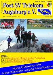 Vereinszeitung August 2009 - Jeden Freitag Preisschafkopf...