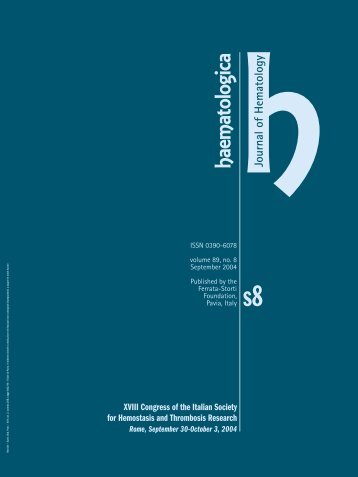 Haematologica 2004;89: supplement no. 8 - Supplements ...