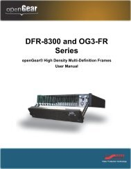 DFR-8300 and OG3-FR Series User Manual - Ross Video