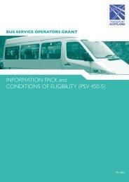 BSOG information pack - Scotland - Community Transport Association