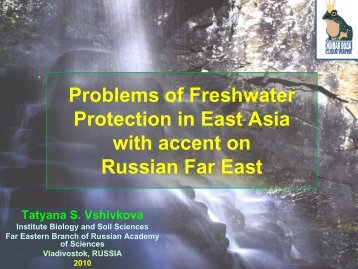 Problems of Freshwater Protection in East Asia with accent on ...