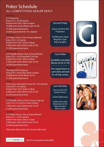 Poker Schedule