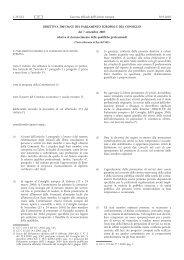 direttiva 2005/36/CE - EUR-Lex - Europa