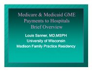 Medicare & Medicaid GME Payments to Hospitals - UW Family ...
