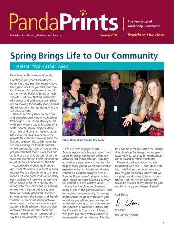 Spring Brings Life to Our Community - Archbishop Prendergast ...