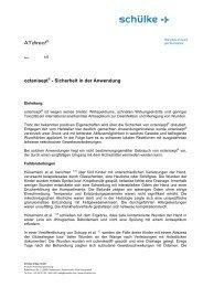 ATdirect octenisept - Sicherheit in der Anwendung - Werner Sellmer