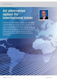 An alternative option for international trade - GTB - Deutsche Bank
