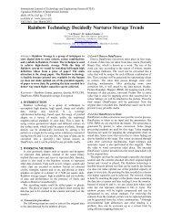 Rainbow Technology Decidedly Nurtures Storage Trends - Ijcns.com