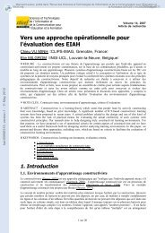 Vers une approche opérationnelle pour l'évaluation des EIAH