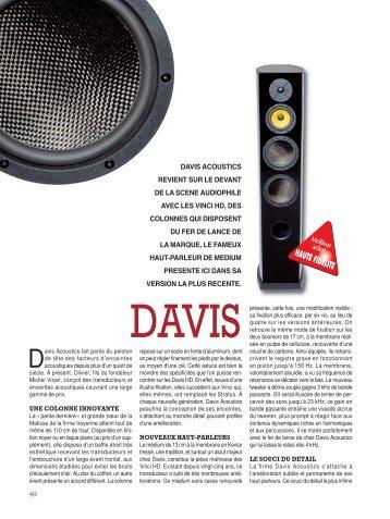 DAVIS Vinci HD - audio alchemy