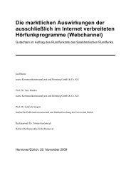 Gutachten zu SR-Webchannel - Saarländischer Rundfunk