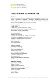 CURSO DE ADOBE ILLUSTRATOR CS4 - cev empresas