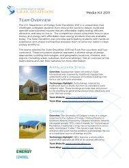 overview fact sheet - Solar Decathlon