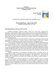 TESTIMONIANZA di Francesco DE SANCTIS - Dedalo