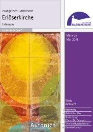 März bis Mai 2011 (Gemeindebrief #15) - evangelisch-lutherische ...