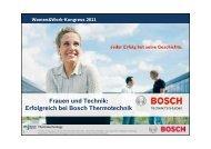 Frauen und Technik: Erfolgreich bei Bosch Thermotechnik - JobStairs