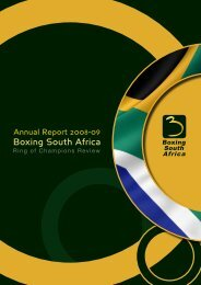 Boxing South Africa Annual Report - Parliamentary Monitoring Group