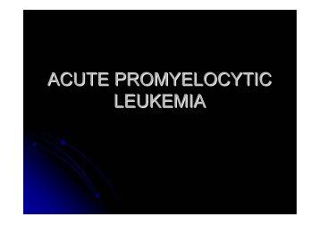 ACUTE PROMYELOCYTIC LEUKEMIA - NCI