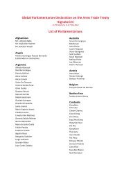 Signatories- List of Parliamentarians - Control Arms