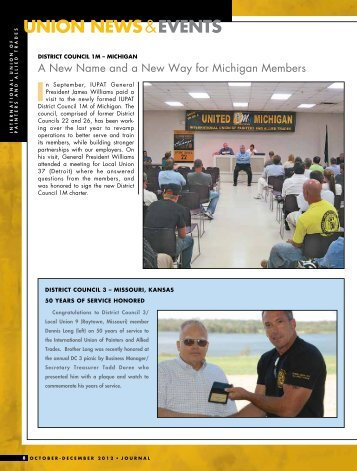 Pages 8 – 17: Union News and Events - IUPAT