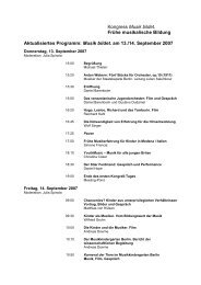 Programm des Kongresses - Musikkindergarten Berlin