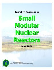 Report to Congress on Small Modular Nuclear Reactors - SMR