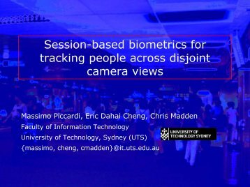 Session-based biometrics for tracking people across disjoint camera ...