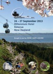 24 – 27 September 2013 Millennium Hotel Rotorua New Zealand