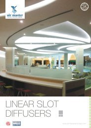 LINEAR SLOT DIFFUSERS - Airmaster Equipments Emirates