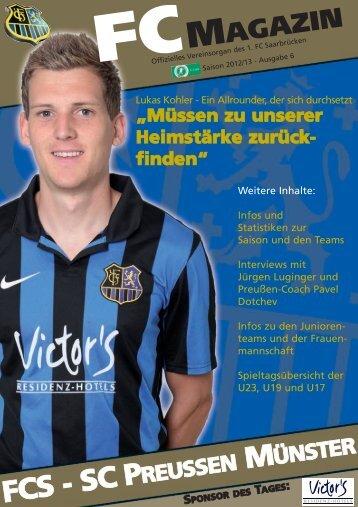 Müssen zu unserer Heimstärke zurückfinden - 1. FC Saarbrücken