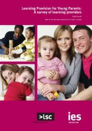 Learning Provision for Young Parents - The Institute for Employment ...
