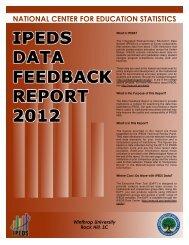 nullDFR 2012 Report - Winthrop University