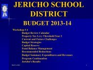 Budget Review Meeting (March 7, 2013) - Jericho School District