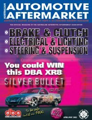 APRIL/MAY 2002 - Australian Automotive Aftermarket Magazine