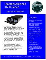 SA1500 series brochure - Unylogix Technologies Inc.