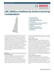 LBC 3256/xx Intellivox 6c Active Line Array Loudspeakers - AVW