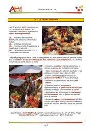IV.1. LE TRONC COMMUN - Montpellier SupAgro